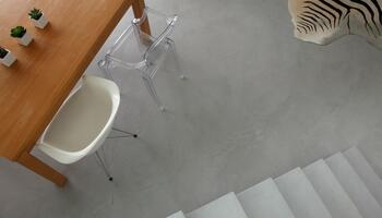 Waxed concrete floor