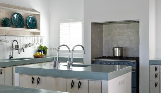 MA's kitchen collection : Waxed concrete worktops